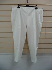 KALEIDOSCOPE TROUSERS CREAM SIZE 18 CROPPED SMART BNWT (G0014