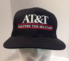 Vintage AT&T Saluts the Military Bar Logo Black Snapback Hat Cap