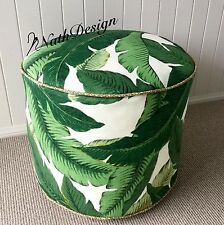 TOMMY BAHAMA GREEN SWAYING PALM FLOOR CUSHION/POUF/OTTOMAN/ CUSHION COVER