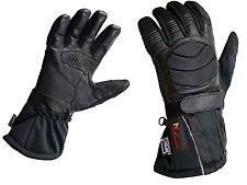 Motorbike Winter Gloves Motorcycle Waterproof Windproof Leather/textile L