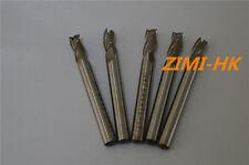SWT 5pcs  6mm 3Flute HSS & Aluminium End Mill Cutter CNC ( 6×6×13×57mm×3F )