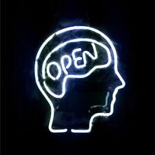 "Open Mind Neon Lamp Sign 14""x10"" Acrylic Bright Lighting Bar Bedroom Artwork"