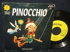 """Peter Pan Players and Orchestra """"Pinochio"""" 45 Single"""