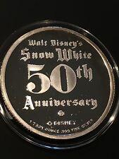 GRUMPY ~ Snow White & 7 Dwarfs 1 Troy Oz .999 Fine Silver Collectible Art 50th