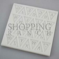 A-Z Bunting Silicone Mould Baby Shower Pary Themed Cupcake Topper Mold
