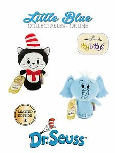 LIMITED EDITION Dr. Seuss Hallmark Itty Bittys Bitty X2 Cat in the Hat & Horton