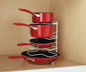 5 Tier Pan Pot Lid Organizer Rack Kitchen Storage Holder Mainstays