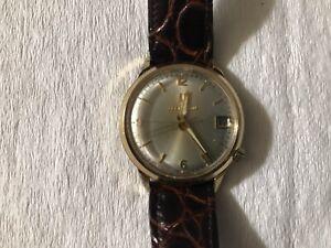 Vint 1975 N5 Bulova Accutron Date Tuning Fork Watch 10k Gold Filled, Runs Fast