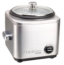 New Cuisinart 4-Cup Rice Cooker Stainless Steel Steaming Basket w/ Built In Tray