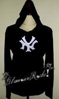 New York Yankees Unisex Rhinestone Unisex Long Sleeve Hoodie Top Tee