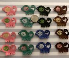 16 pc multicolored cotton monkey crochet applique DIY craft sewing dress doll