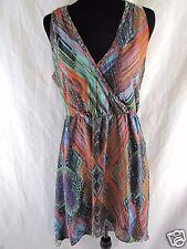Charlie Jade Anthropologie Multicolored 100% Polyester Short Dress Size M     B4