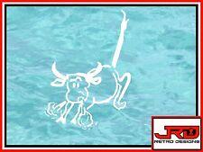 7th Flotilla Emblem Vinyl Sticker White