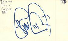 Theoren Fleury Calgary Nhl Hockey Autographed Signed Index Card