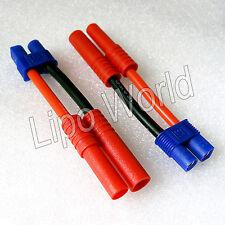 4mm HXT Stecker auf EC3 Buchse 12AWG !!! Adapter Lade Kabel LiPo Akku