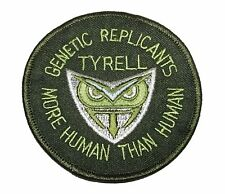 """Blade Runner Tyrell Genetic Replicants Logo 3"""" Diameter Embroidered Patch"""
