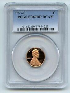 1977 S 1C Lincoln Cent Proof PCGS PR69DCAM