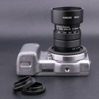 Fujian 35MM f/1.7 C Mount CCTV Lens for Sony NEX E-mount camera & adapter +hood