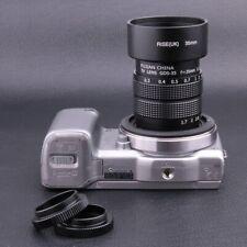 Fujian 35MM f/1.7 C Mount CCTV Lens for Sony NEX E-mount camera & adapter +hood