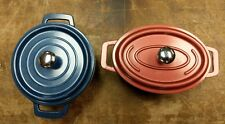 TableCraft CW30112 Cast Iron Mini Oval Casserole w/ Lid  8-Ounce, LOT OF 2