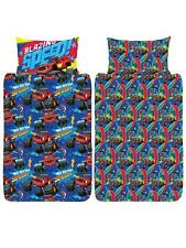 Blaze Single Bedding Set Reversible Duvet Cover Children's Blazing Monster Truck