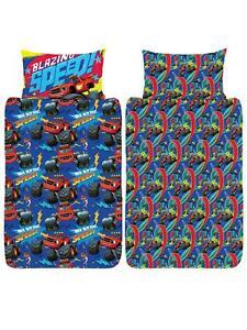 Blaze And The Monster Machines Single Duvet Cover Set Kids Reversible Bedding