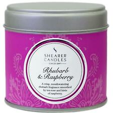 Shearer Candles Home Rhubarb & Raspberry, Large Scented Tin Candle, 40 Hour Burn