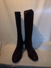 Ecco Ladies Brown Leather Zip Boots Eur 42 Ref Bag01