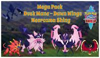 Pokemon Sword & Shield Necrozma Dusk and Dawn✨Shiny✨BR 6IV Solgaleo Lunala Pack
