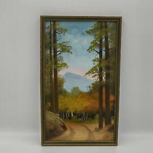 Willard Page Original Oil Painting Aspen Trail Oil Painting Original Frame 9x16