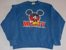 Vintage Bootleg Mickey Mouse Disney Made In USA Crewneck Sweatshirt Size - Large