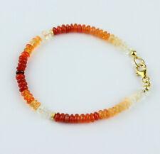 Edle Feueropal Armband Edelsteinarmband Mexiko Feuer Opal Orange Geschenk 19 cm