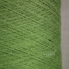 GORGEOUS SOFT ANGORA MERINO WOOL YARN 250g CONE 5 BALL KIWI GREEN 2 PLY KNITTING