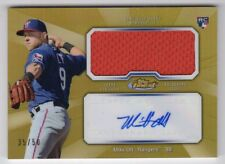 2013 Topps Finest AJR-MO2 Mike Olt Jumbo Relic / Autograph Gold Refractor 35/50