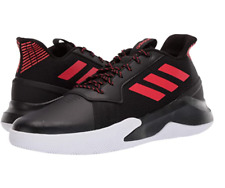 New Adidas Men's Run the Game Basketball Sneakers Cloudfoam Shoes Black/Red 11.5