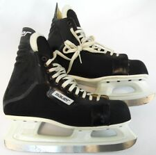 Vintage Bauer Black Adult Comp Canada ICM Professional Hockey Ice Skates 10 D