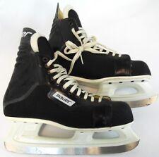 Vintage Bauer Black Adult Comp Canada ICM Professional Hockey Ice Skates 10 D