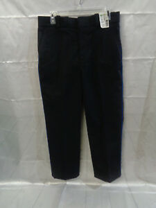 HORACE SMALL Mens Uniform Pants Black, Navy Stripe TA2208 Size 33R x 37U