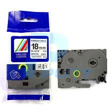 Compatible Brother TZ-FX241 TZe-FX241 Black on White Cable Flexible Label Tape