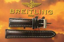BREITLING UNK# 24-20 BROWN SMOOTH CALF TONGUE BUCKLE WATCH BAND WATCHBAND STRAP