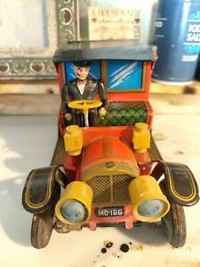 vintage japanese tin toy car by Alps