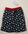 NWT GYMBOREE size 6 12 18 24 months navy w/ white stars swimsuit trunks July 4