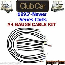 Club Car DS Series Golf Cart # 4 Gauge 600 volt Battery Cable Set