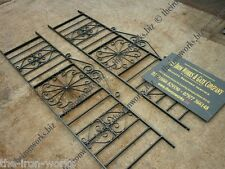 "TUDOR ROSE WROUGHT IRON METAL RAILING PANELS 4ft LONG x 24"" TALL MADE TO ORDER"