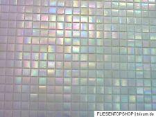 Glasmosaik Fliesen Mosaik perlmutt effekt weiss weiß Bad Dusche Pool küche