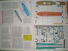 Patrol boat Batory Czechoslovak rare Paper Model 1 : 100