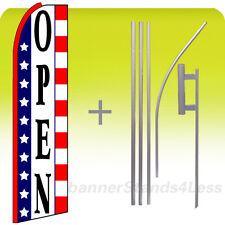 Open Swooper Feather Flutter Banner Sign Flag 15' Kit - stars stripes Q