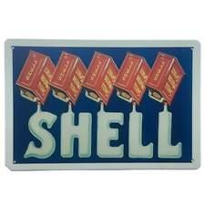 Shell Motor Spirit Tin Sign Petrol Oil Car Man Cave Bar Shed Garage 30cm x 20cm