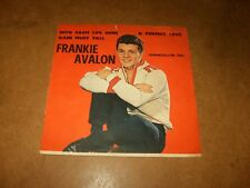 FRANKIE AVALON - A PERFECT LOVE - INTO EACH LIFE SOME - ONLY COVER NO RECORD
