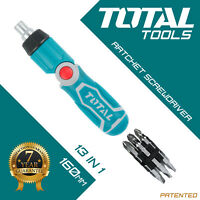 Total Tools RATCHET SCREWDRIVER SET 13 in 1 Magnetic Tips Pivot Adjustable